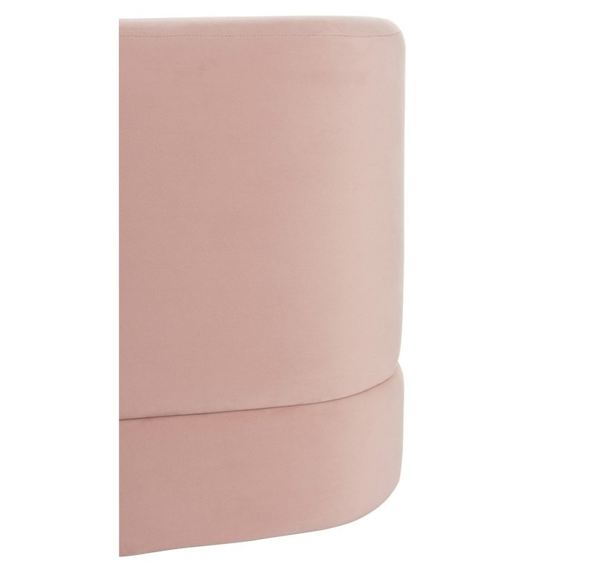 Pouf Square High Luxurious Velvet - Light Pink