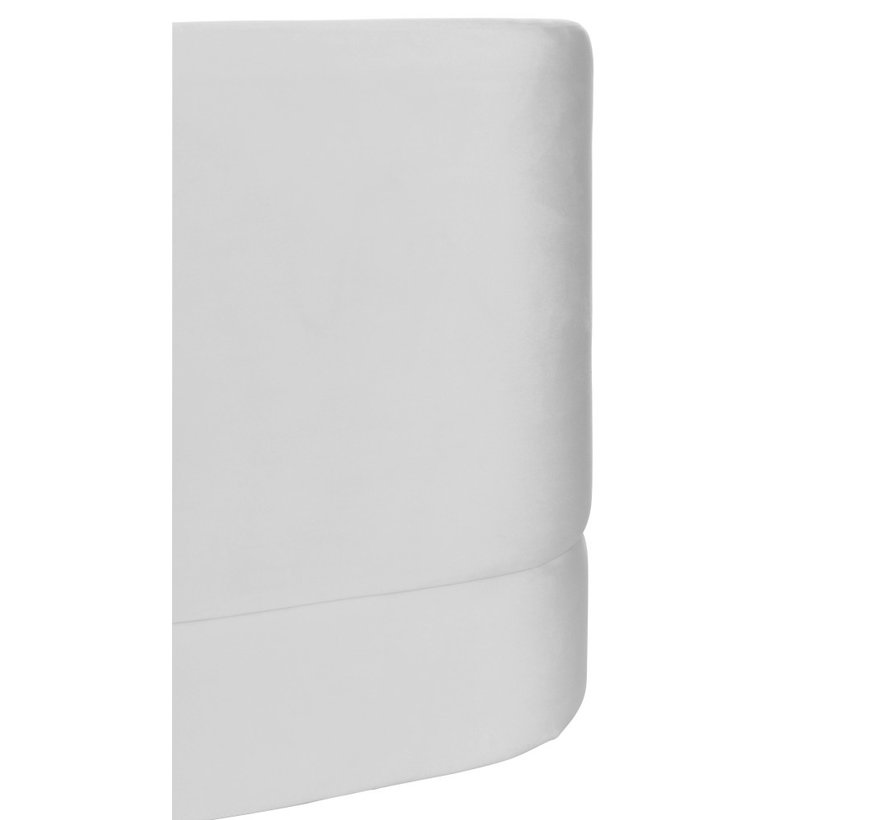 Pouf Square High Luxurious Velvet - White