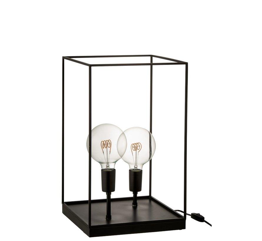 Table lamp Rectangle Tight Metal Frame Black - Large