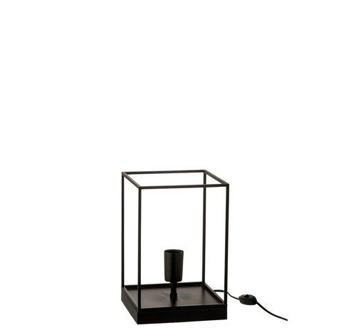 J -Line Table Lamp Rectangle Tight Metal Frame Black - Small