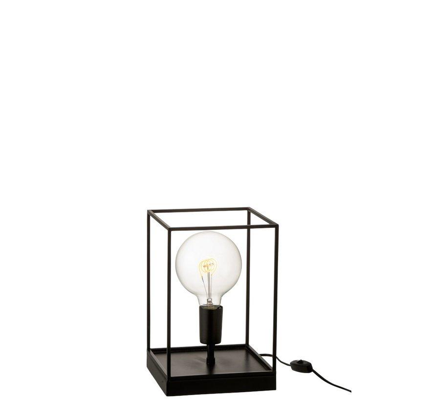 Tafellamp Rechthoek Strak Metalen Frame Zwart - Small