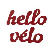 J-Line Wanddecoratie Letters Hello velo Metaal - Rood