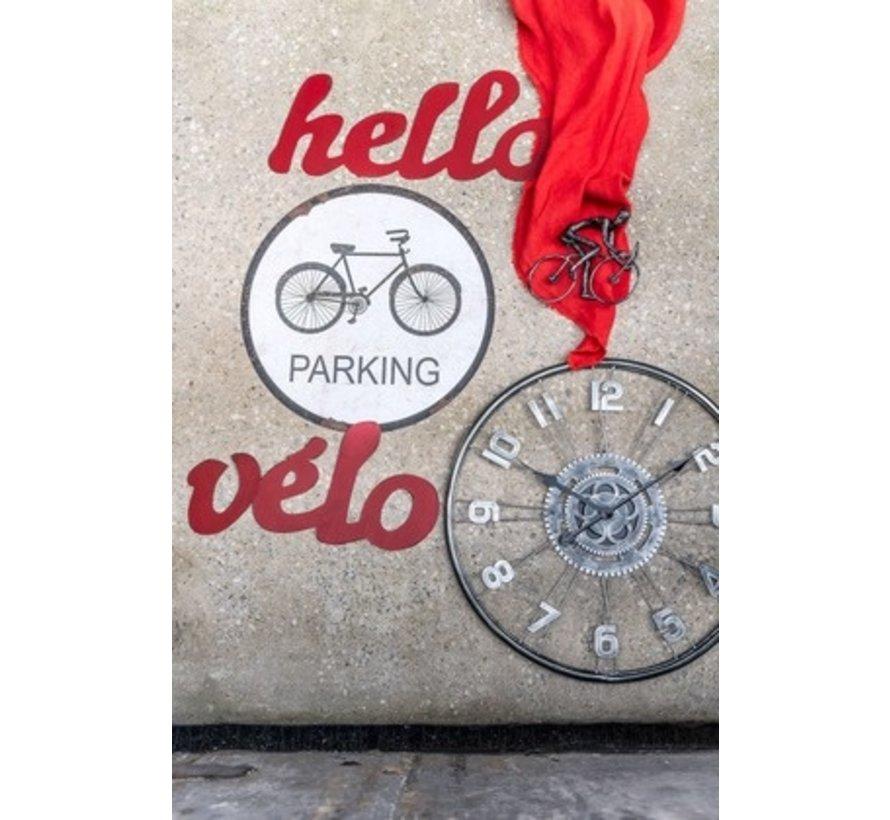 Wanddecoratie Letters Hello velo Metaal - Rood