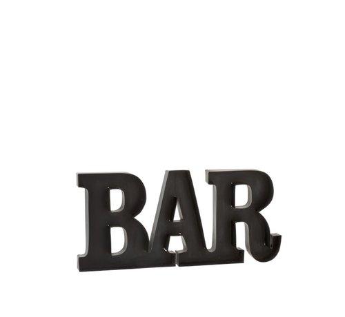 J -Line Wanddecoratie Letters BAR Metaal - Zwart