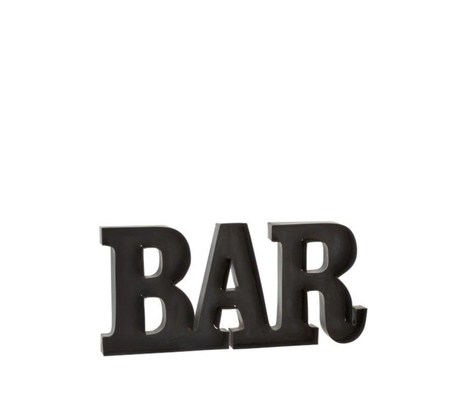 Wanddecoratie Letters BAR Metaal - Zwart