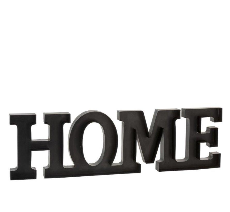 Wanddecoratie Letters HOME Metaal - Zwart