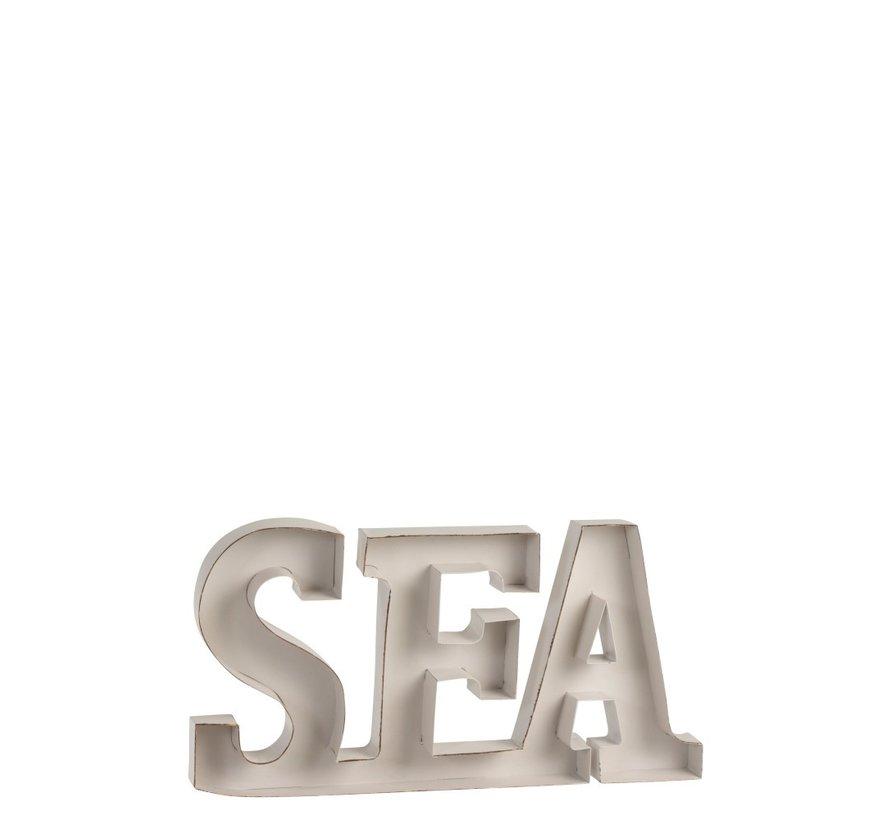 Decoratie Letters Sea Metaal - Wit