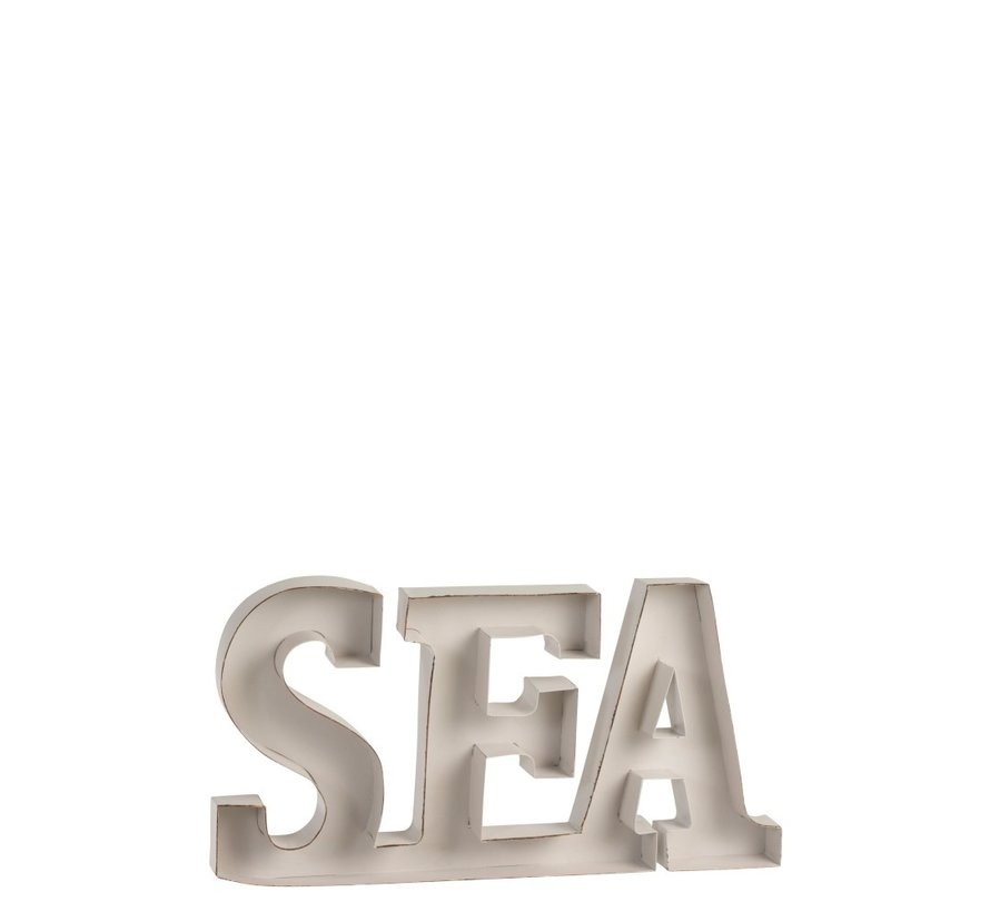 Decoration Letters Sea Metal - White