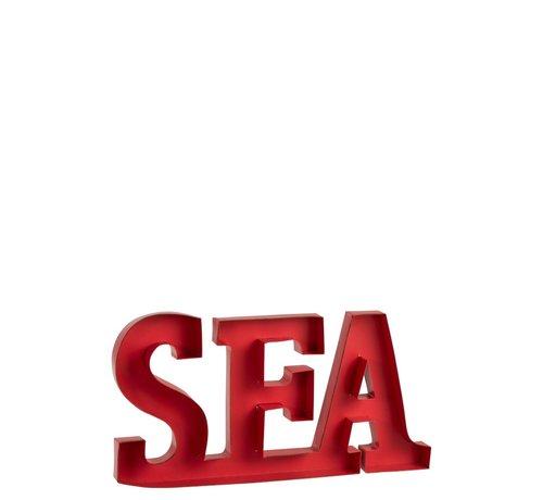 J-Line Decoratie Letters Sea Metaal - Rood