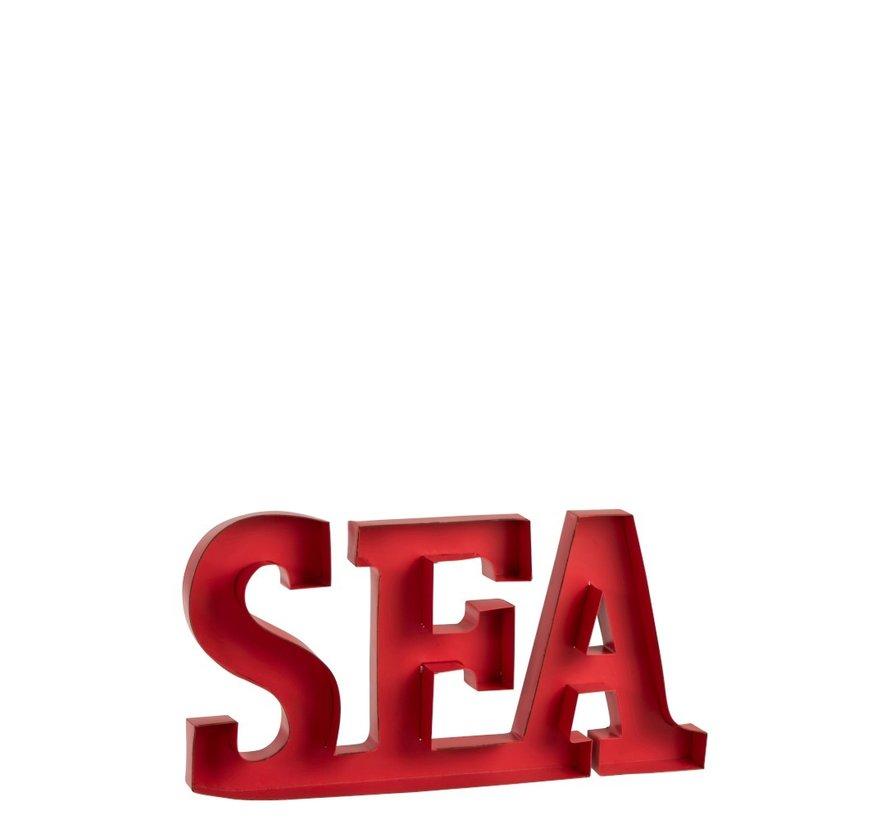 Decoratie Letters Sea Metaal - Rood