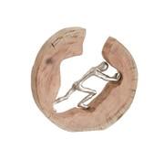 J -Line Decoratie Cirkel Duwend Figuur Mangohout - Zilver