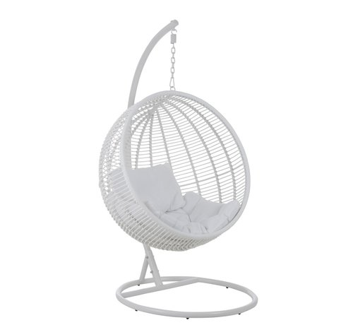 J -Line Hanging Chair One Person Round Steel - White