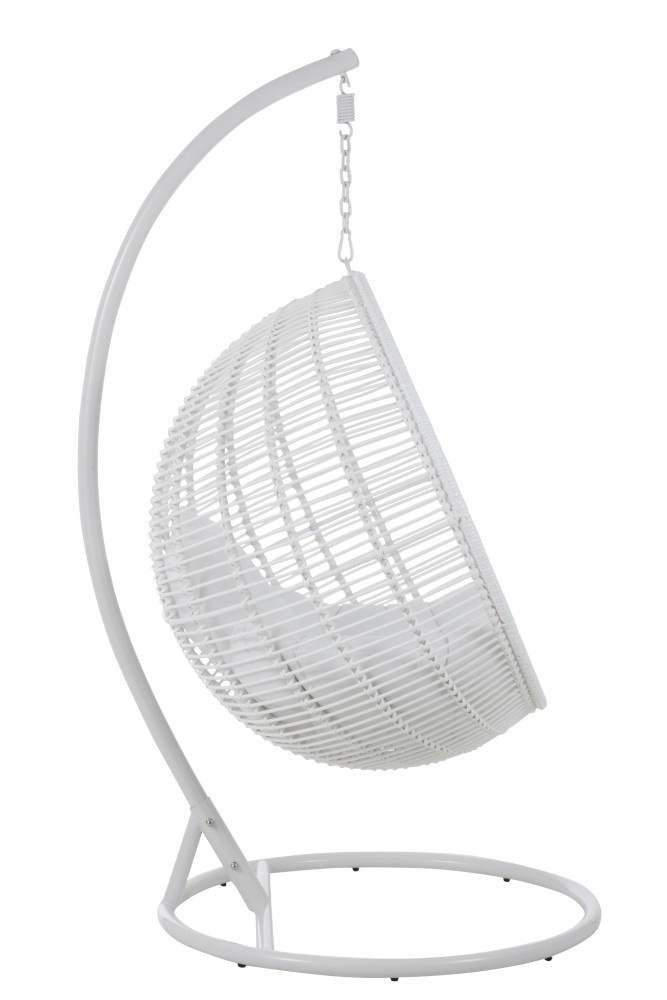 Funny Relax Hangstoel Wit.Hanging Chair One Person Round Steel White Sl Homedecoration Com