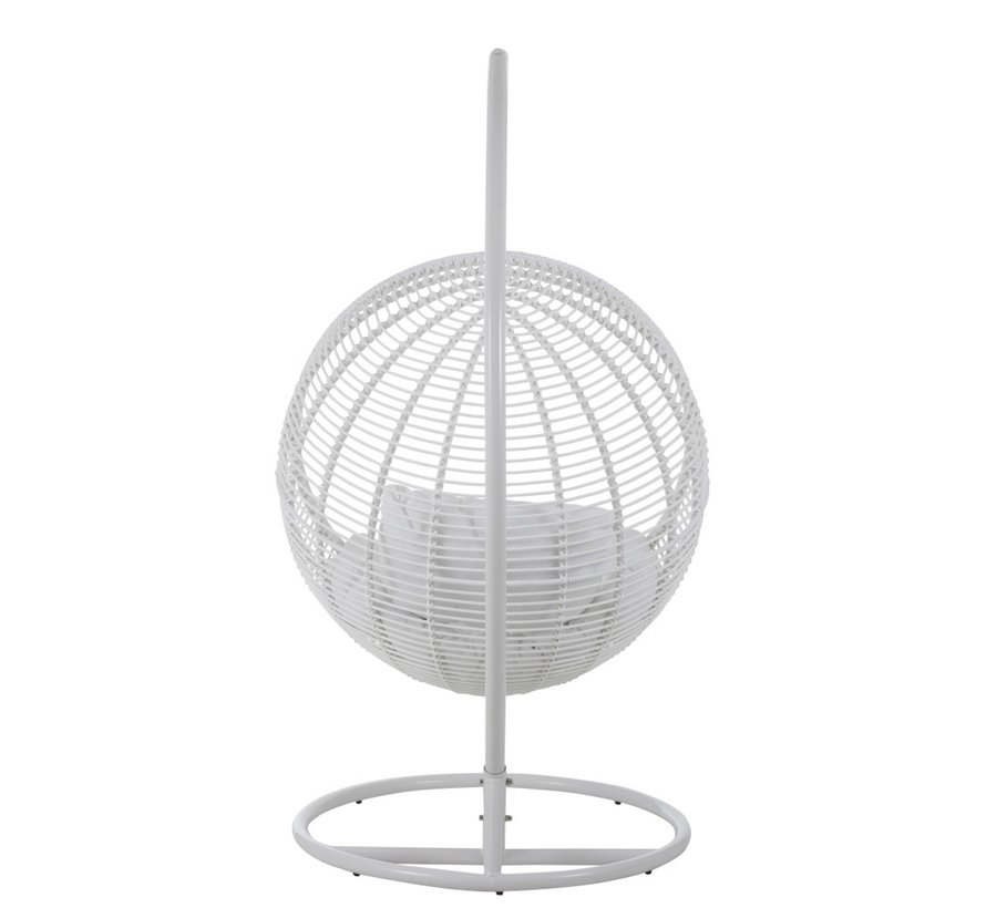 Hanging Chair One Person Round Steel - White