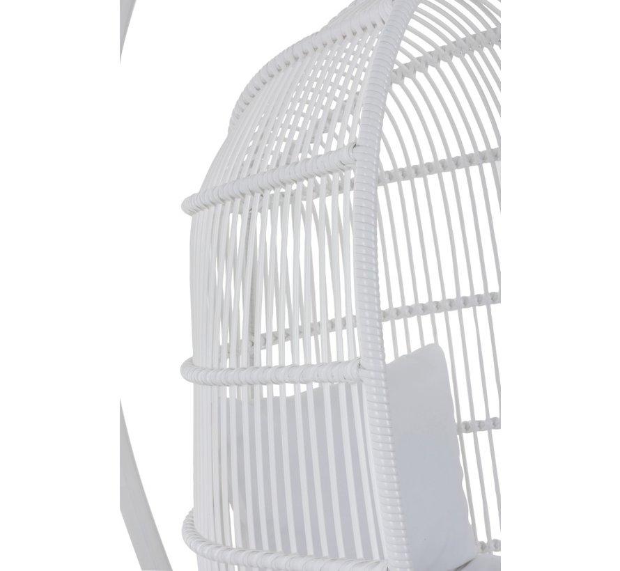 Hangstoel Eén Persoon Ovaal Staal - Wit