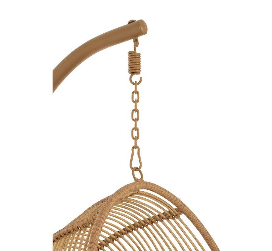Hangstoel Eén Persoon Ovaal Staal Natuurlijk - Bruin