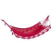J -Line Hammock crocheted Cotton Handicraft - Pink