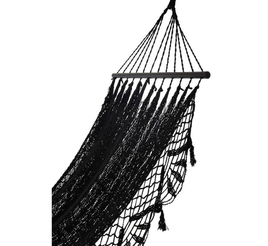 Hangmat gehaakt Katoen Handwerk - Zwart