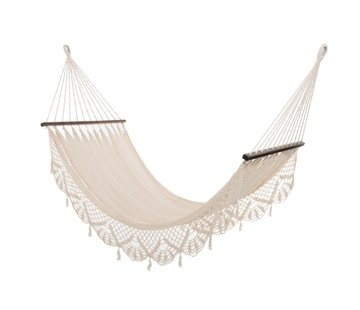 J-Line Hammock crocheted Cotton Handicraft - Ecru
