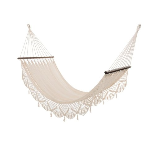 J -Line Hammock crocheted Cotton Handicraft - Ecru