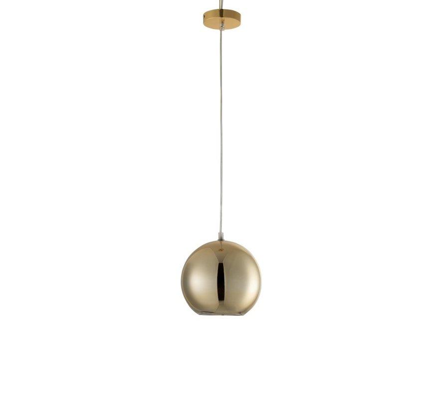 Hanglamp Modern Glas Bol Metaal Goud - Small