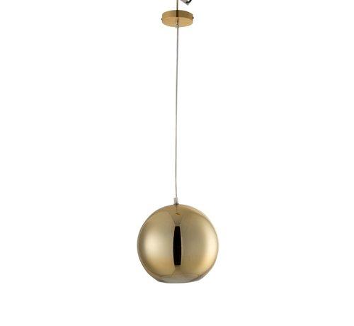 J -Line Hanglamp Modern Glas Bol Metaal Goud - Medium