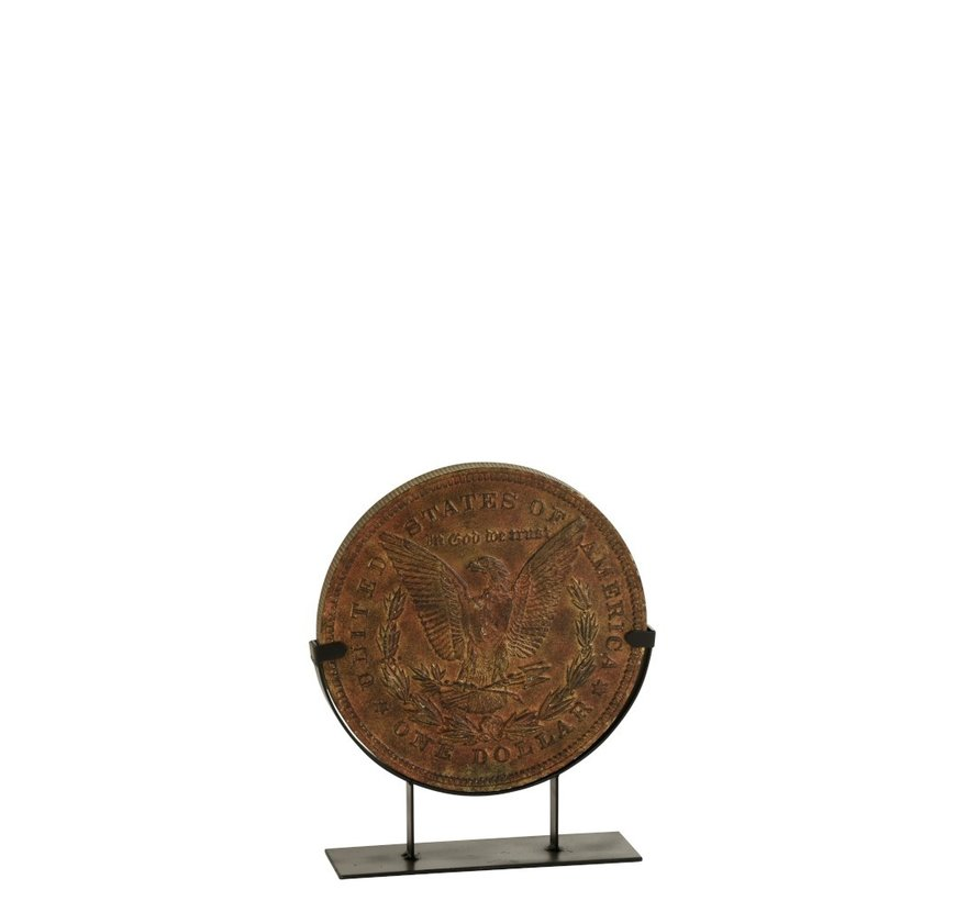 Decoration Coin On Foot Poly Bronze - Small