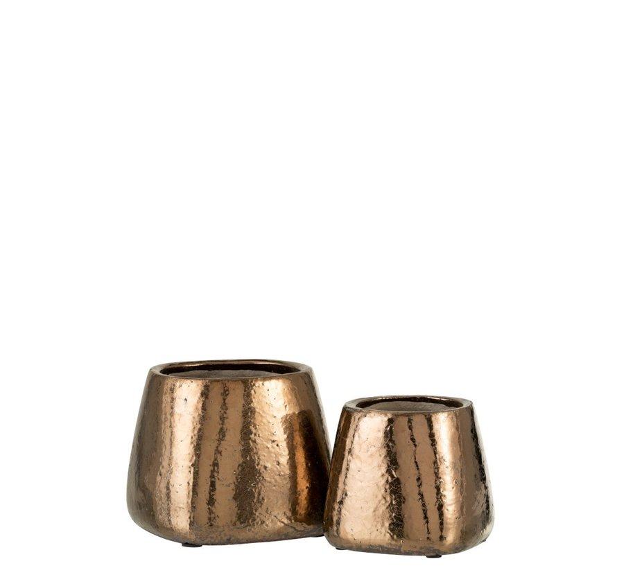 Flowerpot Rectangle ceramic Bronze - Small