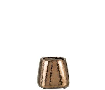 J -Line Bloempot Rechthoek keramiek Brons - Small