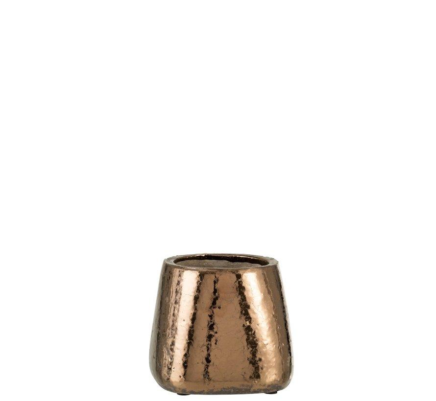 Bloempot Rechthoek keramiek Brons - Small