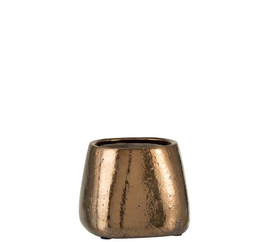 Bloempot Rechthoek keramiek Brons - Large