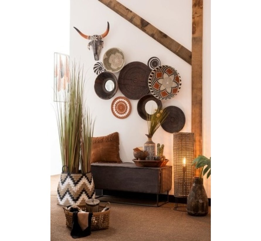 Wanddecoratie Schedels Native Led-Verlichting - Large