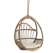 J -Line Hangstoel Kind Eivormig Rotan Natuurlijk - Bruin