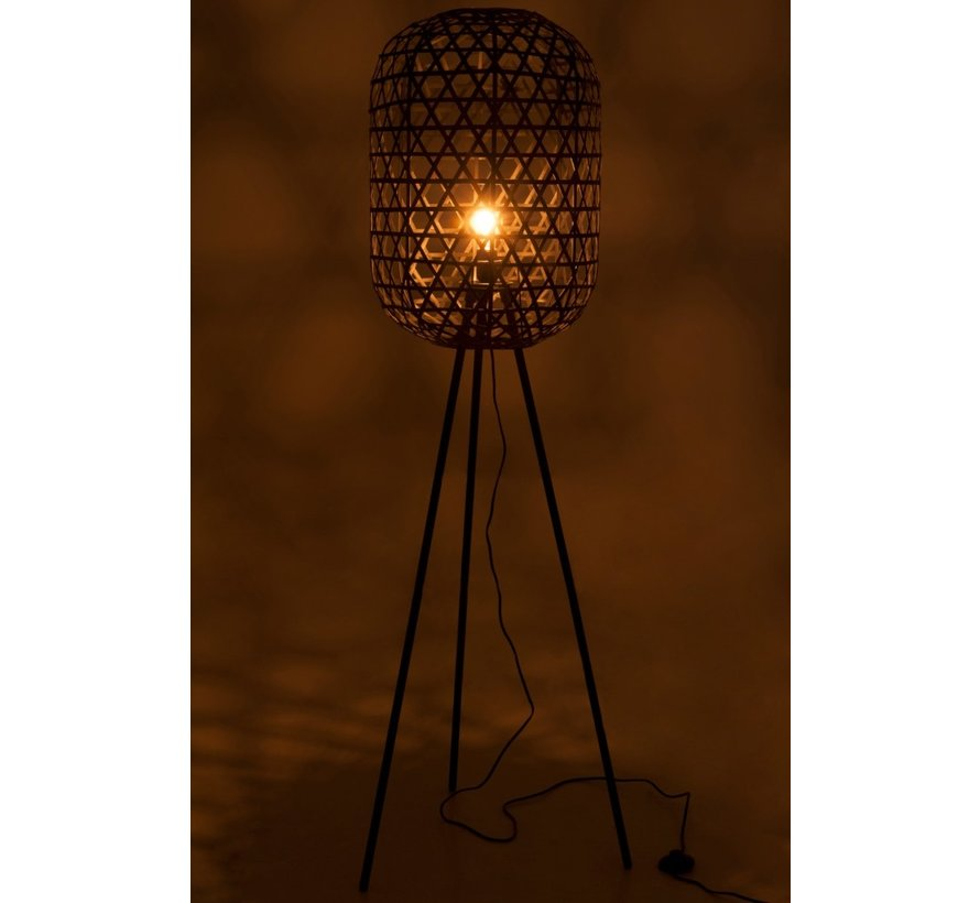 Standing Lamp Bamboo Black Large