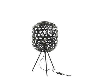 J-Line Table lamp Bamboo Black Small