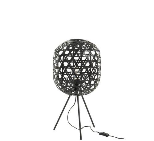J -Line Tafellamp Bamboe Zwart Small