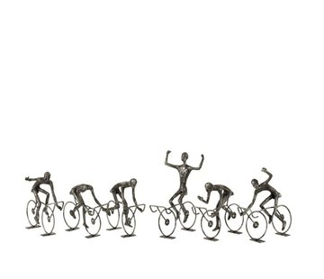 J -Line Decoration Cyclists Abstract Poly Black - Small