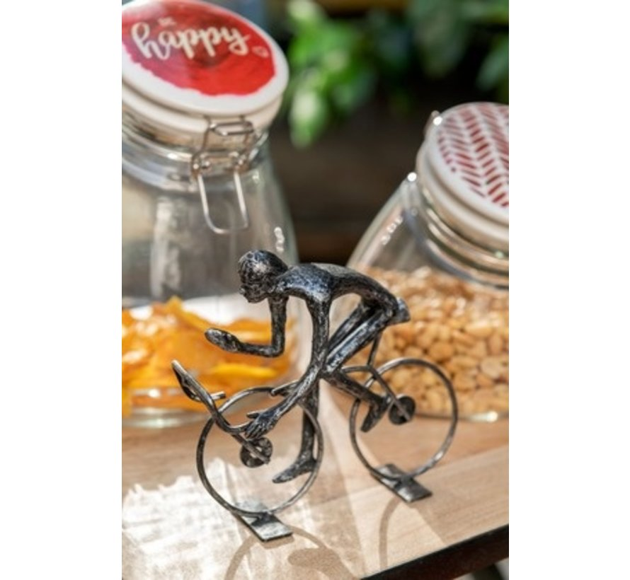 Decoration Cyclists Abstract Poly Black - Large