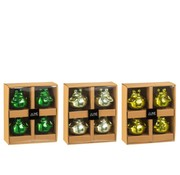 J-Line Decoratie Drijvende Kikkers Glas Mix Groen - Small