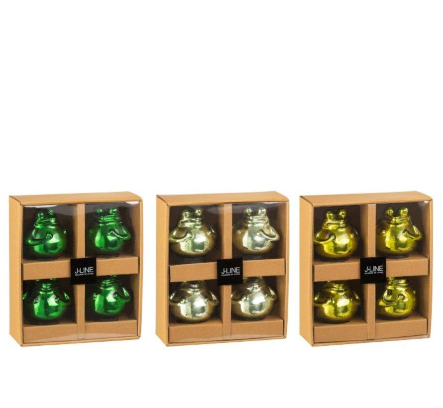 Decoratie Drijvende Kikkers Glas Mix Groen - Small