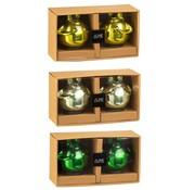 J -Line Decoratie Drijvende Kikkers Glas Mix Groen - Medium