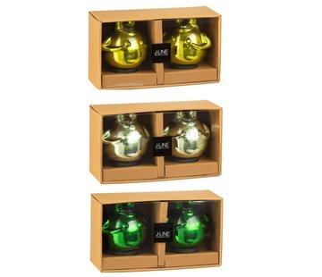 J-Line Decoration Floating Frogs Glass Mix Green - Medium