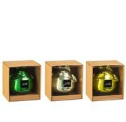 J-Line Decoratie Drijvende Kikkers Glas Mix Groen - Large