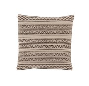 J -Line Cushion Cotton Triangle Motif Black - Beige