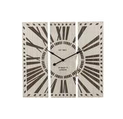 J -Line Wall Clock Three-piece Roman Numerals Brown - White