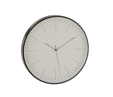 J -Line Wall Clock Round Gerbert Aluminum Black - White