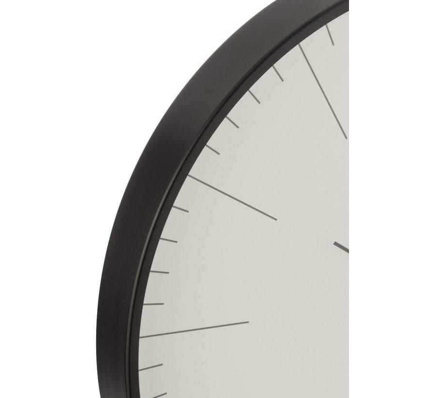 Wandklok Rond Gerbert Aluminium Zwart - Wit