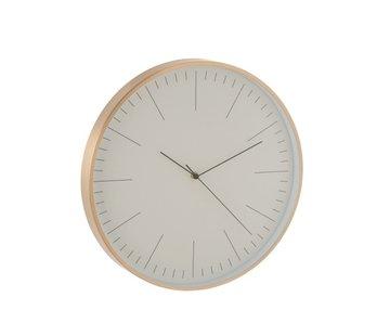 J -Line Wall Clock Round Gerbert Aluminum Gold - White