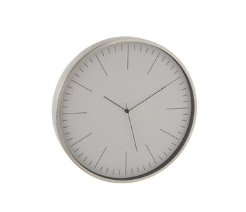 J -Line Wall Clock Round Gerbert Aluminum Silver - White