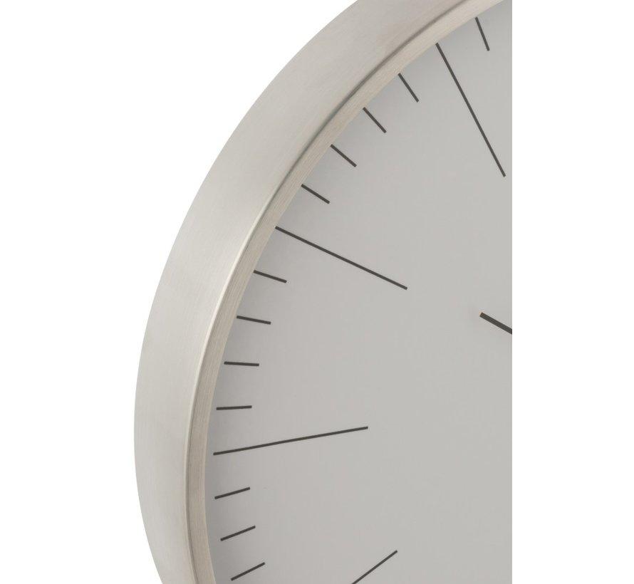 Wall Clock Round Gerbert Aluminum Silver - White